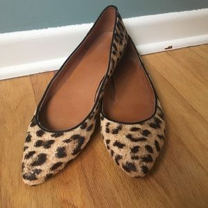 Madewell Leopard Print Pointed Flats Size 8